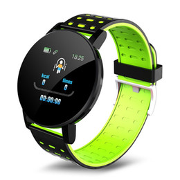 Wholesale 119 plus Smart Watch Bracelet Band Fitness Tracker Messages Reminder Color Screen Waterproof Sport Wristband 100mah for Android