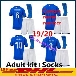 $enCountryForm.capitalKeyWord NZ - New 2019 Italy Adult Kits+Socks Home Youth Soccer Jersey 19 20 Bonucci Verratti Chiellini INSIGNE Belotti Jerseys Italy Football Uniforms