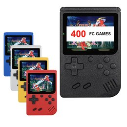 Mini mano consola retro portátil consola de videojuegos puede almacenar 400 juegos de 8 bits de 3,0 pulgadas LCD colorido cuna Diseño en venta