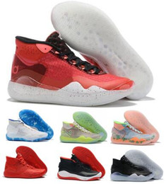 Kd Shoes Christmas Australia - Basketball Shoes KD Kevin Durant 12 Sneakers Zoom 90s Eybl The Day One Dub Nation Warriors Home University Orange 2019 Men Zapatos Shoes