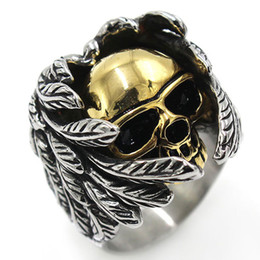 Wolf men rings online shopping - Retro Gothic Punk Men Rings Trendy Titanium Steel Skull Wolf Dragon Male Rings Hip Hop Ring Jewelry Halloween Accessories Gift