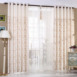 $enCountryForm.capitalKeyWord Australia - Elegant curtain embroidered semi-shading living room bedroom floor to ceiling flat window finished product customization