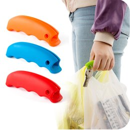 candy kitchen Australia - Kind Candy Colored Silica Gel Pickup Anti-Slip Bag Carrier Shopping By Hand Carrying Bags Effortlessly Kitchen Supplies
