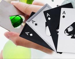 Caps opener online shopping - Stainless Steel Bottle Opener Beer Opener Poker Playing Card of Spades Soda Bottle Cap Opener Bar Tools Kitchen accessories