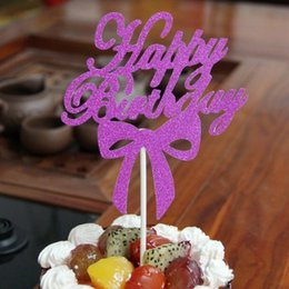 $enCountryForm.capitalKeyWord NZ - cake toppers gliter happy birthday paper cards banner for fruit Cupcake Wrapper Baking Cup tea party wedding decoration GA700