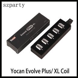 Vente en gros Yocan Evolve Plus XL Cire Quad Quad Quad Bobine Bobine Bobine Avec Capuchon De Bobine Pour Evolve Plus XL Kit Dab Pen Livraison