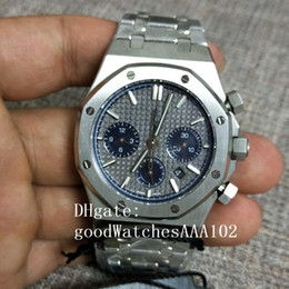 men square dial chronograph watches 2020 - Classic Series Men Watch 26331ST26331BC 41mm Grey dial Stainless Steel VK Quartz Chronograph Working Mens Watch Watches