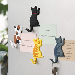 refrigerator cute stickers NZ - Cartoon Cute cat tail hook Fridge Magnets Decoration magnet refrigerator sticker cartoon comet decoration magnetic stickers gift Ornament