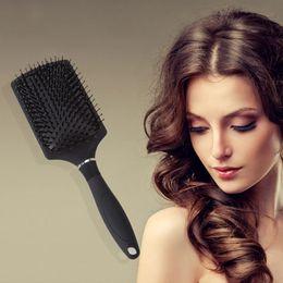 Hair Healthy Australia - 1Pcs Hairbrush Bristle Nylon Comb Hair Healthy Scalp Massage Salon Hairdressing Styling Tools Scalp Hair Care
