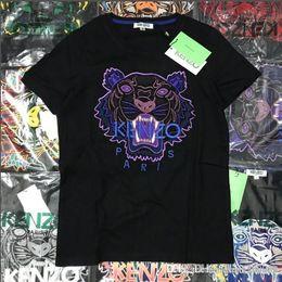 $enCountryForm.capitalKeyWord Australia - Popular logo men and women with the same type of embroidered T-shirt lovers half sleeve cartoon animal head round collar short sleeve