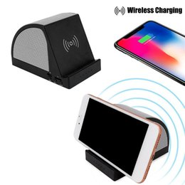 qi speaker UK - Qi Wireless Power Bank Fast Charger Wireless Speaker Stereo Phone Stand Holder car
