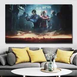 evil figures NZ - Resident Canvas Painting Evil 2 Living Room Home Decor Modern Wall Art Painting Poster Picture Accessories