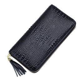 Boys Designer Wallets UK - Crocodile Genuine Leather Wallets Brand Women Alligator Leather Purses Female Long Wallet Coin Purse Ladies Designer Wallet