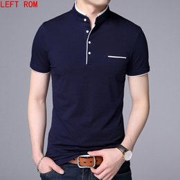 Men S Polos Australia - High Quality Men Shirt Mens Short Sleeve Solid Polo Shirts Camisa Polos Masculina Casual Cotton Plus Size S-3xl Tops Q190516