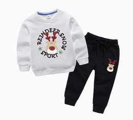 korean sweater pants Australia - Boys and girls sweater suit new autumn Korean version of the tide suit big children and children's sweater Wei pants two-piece