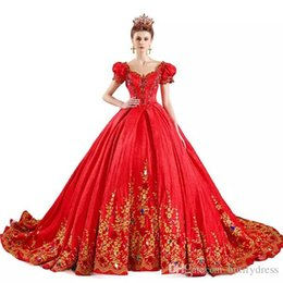 Fancy Red Sexy Dresses Australia - Custom Wedding Dresses Brides Fancy Red Classical Royal Elegant High Quality Costume Long Tail Brides Dresses Chinese Factory Man Made