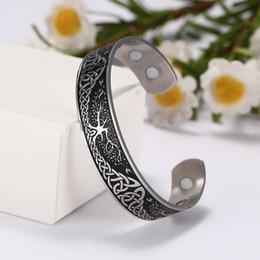 Bird Bracelets online shopping - Lemegeton Wicca Bangles Tree of Life Birds Endless Love Knots Bangle Cuff Magnetic Bangle Stainless Steel Bracelets Men Women