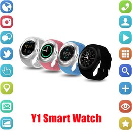 Facebook For android online shopping - Y1 Smart Watch Round Sharp Support Nano SIM with Whatsapp Facebook Business Smartwatch Push Message For IOS Android Phone