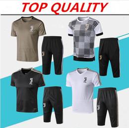 985c9e56772 Soccer pantS black online shopping - 2018 RONALDO soccer training suit Short  sleeve pants maillots de