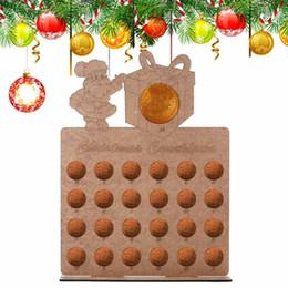 $enCountryForm.capitalKeyWord Australia - 1pcs Wooden Hollow Out Christmas Advent Calendar Santa Claus Handmade New Year Xmas Countdown Home Decor Chocolate Displays