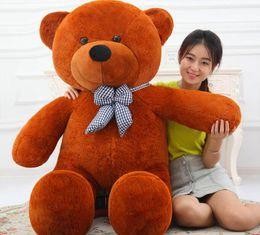 Toy Bows Australia - Factory wholesale custom large teddy bear plush toy big bow tie hug bear cloth doll wedding gifts