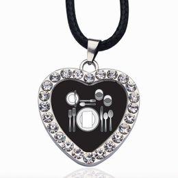 Table Charm Wholesale Australia - Table Set Circle Charm Crystal Pendant Necklace Fashion Necklaces for Women 2019 Statement