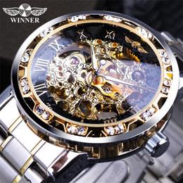 $enCountryForm.capitalKeyWord Australia - Winner Transparent Fashion Diamond Display Luminous Hands Gear Movement Retro Royal Design Men Mechanical Skeleton Wrist Watches For Man