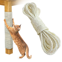 $enCountryForm.capitalKeyWord Australia - 6mm Sisal Rope For Cat Tree DIY Scratching Post Toys Scratch Board Chair Legs Binding Rope For Cat Sharpen Claw Supplies 10m