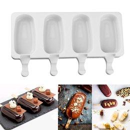 $enCountryForm.capitalKeyWord Australia - 2 Sizes Homemade Ice Cream Molds 4 Cavities Silicone DIY Popsicle Mold Making Tool Juice Dessert Maker With 10 Popsicle Sticks