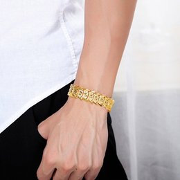 Heavy curb silver bracelet online shopping - Men s Gold Silver Curb Chain Bracelet Hip Hop Jewelry Heavy Engraved Flower Alloy Lady Chain Bracelet