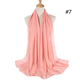 MusliM chiffon scarfs online shopping - New Design High quality hot sale Muslim shawl in good price chiffon scarf in good price