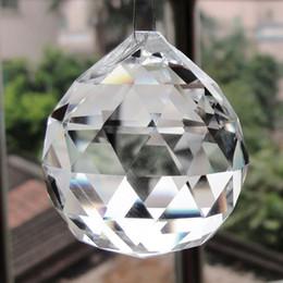 venda por atacado 30/40/50mm bola de cristais de vidro para lustres claros Bolas facetadas Peças de candelabro de cristal Prism Suncatcher pendentes pingentes de casamento Decora