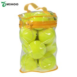 $enCountryForm.capitalKeyWord Australia - 12pcs pack Natural Rubber Entry-level Tennis Balls for Children Playing Dog Training Tennis Ball High Resilience