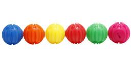 $enCountryForm.capitalKeyWord UK - 10pcs Pet Flash LED Ball Motion Activated Dog Balls Training Interactive Play Durable Colorful LED Ball Toy 6 Colors 3 Sizes
