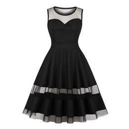 $enCountryForm.capitalKeyWord Canada - Black Women Party Sexy Lace Dresses See Through Gothic Fashion Elegant Evening A Line Pleated Vintage Summer Dress DK3087MX
