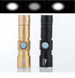 Zoomable focus flashlight torch online shopping - Waterproof CREE XPE LED Flashlight torch LM Mini battery power Lamp Portable USB recharge Zoomable focus Torch