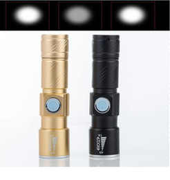 Flash Drive Fish Australia - Zoomable led Q5 Flashlight torch outdoor Flash Light hiking camping portable mini Lamp USB charger 18650 battery flashlights torches