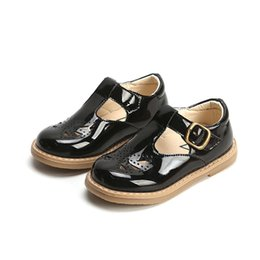 kids black school shoes UK - Girls Leather Shoes Child Pu Sneakers 2019 Spring Autumn Kids School Shoes Baby Girls Black Shoes Children Plateforme Sneakers