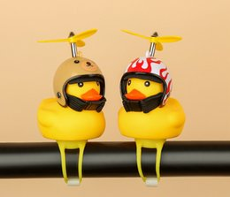 $enCountryForm.capitalKeyWord Australia - Interest toys Little yellow duck Children's Bicycle Helmet Motorcycle Horn Light luminous flash Bamboo small yellow duck kids Adult