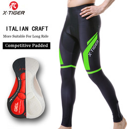 winter cycling tights Australia - X-TIGER Pro Winter Thermal Cycling Trousers With 5D Gel Padded Mountain Bicycle Pants Racing Bike Tights Cycling Pants For Mans