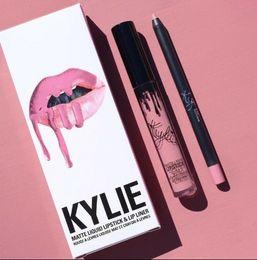$enCountryForm.capitalKeyWord NZ - 41 colors KYLIE JENNER matte lip gloss hot lip liner fashion lipstick lipgloss lipliner Lipkit Velvet Makeup liner
