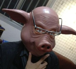 Pig Face Masks Australia - Hot!!! Halloween Party Cosplay Funny Latex Pig Mask Unisex Halloween Fancy Dress Costume Cosplay Moive Saw Gift New