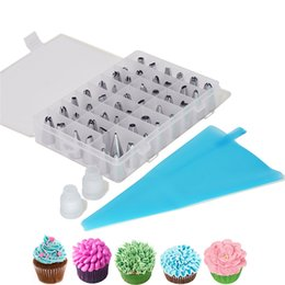 $enCountryForm.capitalKeyWord NZ - 51pcs set Dessert Decorators Silicone Icing Piping Cream Pastry Bag+48 Stainless Steel Nozzle Set DIY Cake Decorating Tips