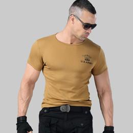 $enCountryForm.capitalKeyWord Australia - 2019 Men's Army T Shirt Summer Military Cotton T-shirt Body Sculpting Short Sleeve High Elasticity Stretch Slim Fit Male Tshirt Y19072201