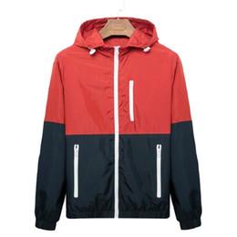 $enCountryForm.capitalKeyWord UK - Windbreaker Men Casual Spring Autumn Lightweight Jacket 2019 New Arrival Hooded Contrast Color Zipper Up Jackets Outwear Cheap C19041701