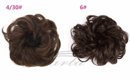 clipped hair Australia - B12 S-noilite 1pcs Synthetic Hair Big Bun Chignon Two Plastic Comb Clips in chignon synthetic hairpiece chignon cheveux hair 123
