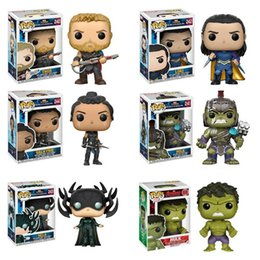 $enCountryForm.capitalKeyWord Australia - Funko Pop Avengers Thor Loki Hela Hulk Movie Figure Anime Model Pvc Collection Toys For Children Birthday Gift J190720