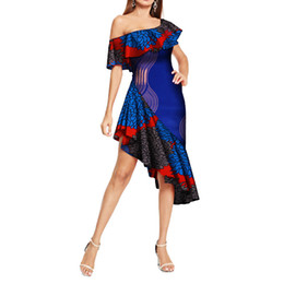 $enCountryForm.capitalKeyWord UK - African Dresses for Women Sexy One-Shoulder Traditional Africa Print Dress Elegant Lady Slash Neck Evening Party Dresses WY314