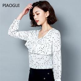 3eae31e86beb Camisa De Manga Larga Blanca Negra Para Mujer Online | Camisa De ...