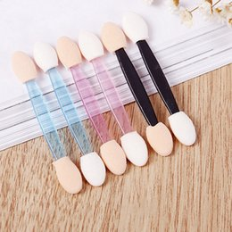 eyeshadow applicator brush Australia - Disposable Eyeshadow Brush Double Head Eyeliner Lip Brush Sponge Brush Applicator Tool For Women Beauty 10pcs  set RRA1166